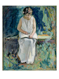 Girl Reading (Oil on Canvas) Giclee Print by Henri Lebasque