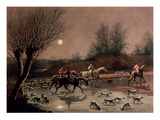Returning Home by Moonlight (Colour Litho) Reproduction procédé giclée par James Pollard