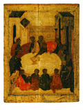 The Last Supper (Tempera and Gold Leaf on Panel) Giclee Print by  Russian