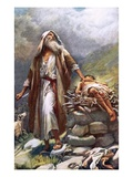 Abraham and Isaac Giclee Print by Harold Copping