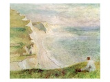 Cliffs at Pourville, 1879 Giclee Print by Pierre Auguste Renoir