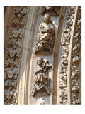 Archivolt of the Central Portal of the West Facade, Detail of a Violinist and a Zither Player Giclee Print by  Spanish
