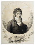 Self Portrait, 1801 (Pencil and Gouache) Giclee Print by Fulchran Jean Harriet