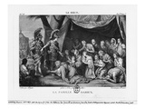 The Family of Darius before Alexander the Great (Etching) Giclee Print by Charles Le Brun