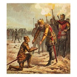 The Black Prince at Crecy Giclee Print by  English
