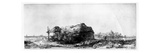 Landscape with a Cottage and Haybarn, Etched by James Bretherton (Etching) Giclee Print by  Rembrandt van Rijn