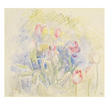 Tulips, 1890 (W/C on Paper) Giclee Print by Berthe Morisot