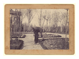 Gustave Caillebotte (1848-94) Gardening at Petit Gennevilliers, February 1892 (B/W Photo) Giclee Print by Martial Caillebotte