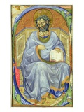 Historiated Initial 's' Depicting a Seated Evangelist (Vellum) Giclee Print by  Master of San Michele of Murano