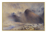 Mount Snowdon Through Clearing Clouds, 1857 (W/C and Pencil on Paper) Giclee Print by Alfred William Hunt
