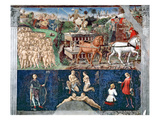 The Month of May: Triumph of Apollo and the Zodiac Giclee Print by Francesco del Cossa
