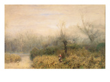 By a Lake, 1882 Giclee Print by John William North