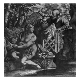 Susanna and the Elders, C.1590 (Etching) Giclée-tryk af Annibale Carracci