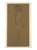 Study of a Young Girl (Pencil on Paper Heightened with White) Giclee Print by Herbert James Draper