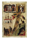 Heavenly Ladder of St. John Climacus (Tempera on Panel) Giclee Print by  Russian