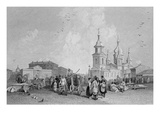 The Haymarket, St. Petersburg, Engraved by W. Chevalier (Engraving) Giclee Print by Alfred Gomersal Vickers