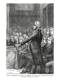 Burke Addressing the House of Commons in Support of Wilberforce's Motion for Abolition of Slavery Giclee Print by Charles J. Staniland