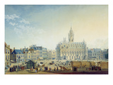 The Main Square, Middelburg, 1812 (Gouache on Paper) Giclee Print by Anton Ignaz Melling