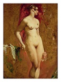 Standing Nude (Oil on Canvas) Giclee Print by William Etty
