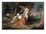 Hagar in the Desert Giclee Print by Pompeo Girolamo Batoni