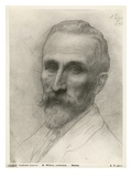 Mr Wilson, Architect, 1898 (Silverpoint on Cardboard) Giclee Print by Alphonse Legros