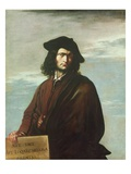 Self Portrait, C.1641 (Oil on Canvas) Giclee Print by Salvator Rosa