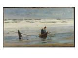 Gathering Driftwood, Holland, 1877 Giclee Print by William Lionel Wyllie