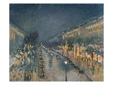 The Boulevard Montmartre at Night, 1897 (Oil on Canvas) Giclee Print by Camille Pissarro