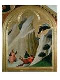 Agostino Saving a Man Who Fell from His Horse, from the Altar of the Blessed Agostino Novello Giclee Print by Simone Martini