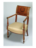 Fontainebleau Armchair, 1796-1803 (Mahogany) Giclee Print by Francois Honore Georges Jacob-desmalter