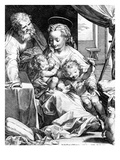 The Holy Family, Engraved by Cornelis Cort, 1577 (Engraving) Giclee Print by Federico Fiori Barocci or Baroccio