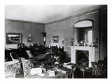 The Drawing Room at Down House (B/W Photo) Giclee Print by  English Photographer