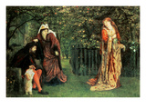 Sir Tristram and Le Belle Iseult Giclee Print by Marie Spartali Stillman