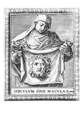 Veronica Holding the Sudarium, 1581 (Engraving) Giclee Print by Agostino Carracci