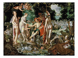 The Judgement of Paris, 1615 (Oil on Panel) Giclee Print by Joachim Wtewael Or Utewael