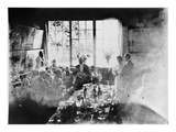 Wedding Meal of Suzanne Hoschede and Theodore Earl Butler, 20 July 1892 (B/W Print) Giclee Print by Claude Monet