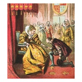 Queen Elizabeth and Shakespeare Giclee Print by  English