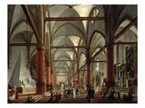 Leopoldo Cicognara (1767-1834) Commenting on the Monument of Canova (1827) Premium Giclee Print by Giuseppe Borsato