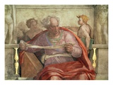 The Prophet Joel, from the Sistine Ceiling (Pre Restoration) Giclee Print by  Michelangelo Buonarroti