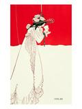 Aubrey Beardsley - Isolde, 1895 Digitálně vytištěná reprodukce