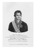 Denis Decres, Minister of Marine and the Colonies, Engraved by Lanvin, 1813 (Engraving) Giclee Print by Justine Le Suire
