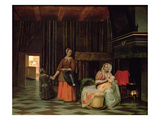 Woman with Infant, Serving Maid with Child Giclee Print by Pieter de Hooch