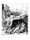The Adoration of the Magi, Engraved by Hendrik Goltzius, C.1585 (Engraving) Giclee Print by Bernardino Passeri