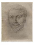 Leonce Benedite, 1899 (Silverpoint on Paper) Giclee Print by Alphonse Legros