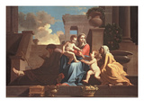 Holy Family on the Steps, C1648 Giclee Print by Nicolas Poussin