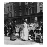 Victorian Market Scene (B/W Photo) Giclee Print by  English Photographer