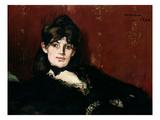 Berthe Morisot (1841-95) Reclining, 1873 Premium Giclee Print by Édouard Manet