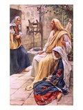 Martha and Mary Premium Giclee Print by Harold Copping