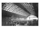 Charing Cross Station (B/W Photo) Giclee Print by  English Photographer