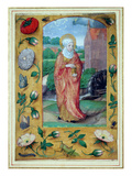 Mary Magdalene, from a Book of Hours, C.1500 (Vellum) Giclee Print by  Flemish